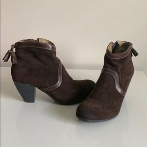 Fly London suede booties